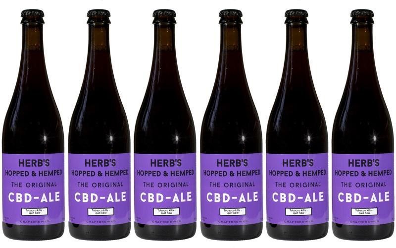 Herb's Hopped & Hemped The Original CBD Ale (box 6 x 750 ml)